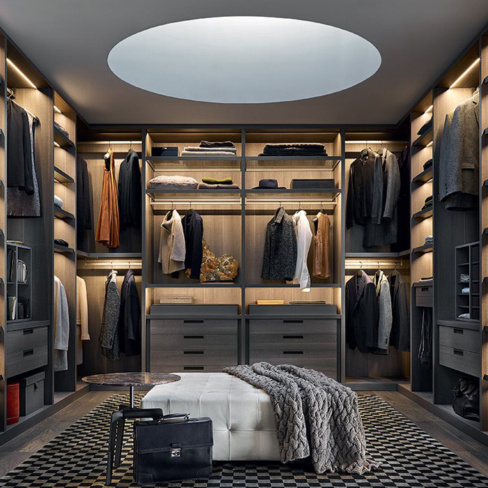 Senzafine closet by Poliform, available in Boston exclusively at Showroom