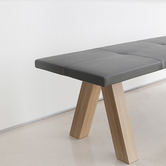 Trestle table by Viccarbe, available in Boston at Showroom