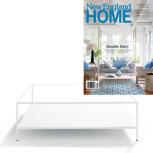 DePadova Quadrato Espositore Coffee Table featured in New England Home magazine