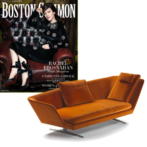 Boston Common magazine features the ZEUS chair lounge by Antonio Citterio for Flexform, available at Showroom